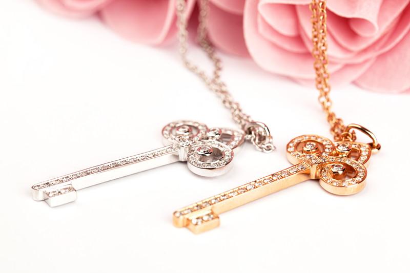 慕蒂卡珠宝  三叶草-18K钻石项链