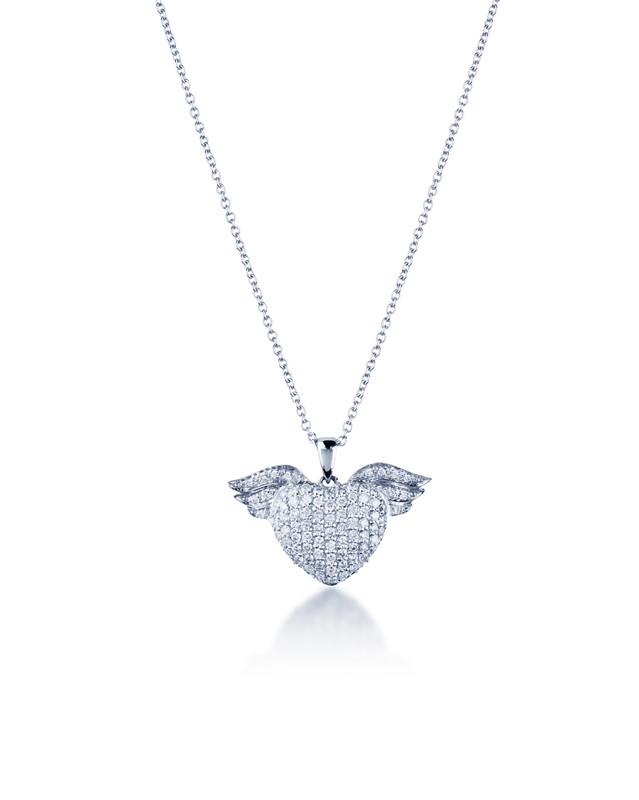 慕蒂卡珠宝  心之翼-18K金钻石项链